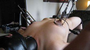 BDSM video nipple tower ニップルタワー 乳首牽引